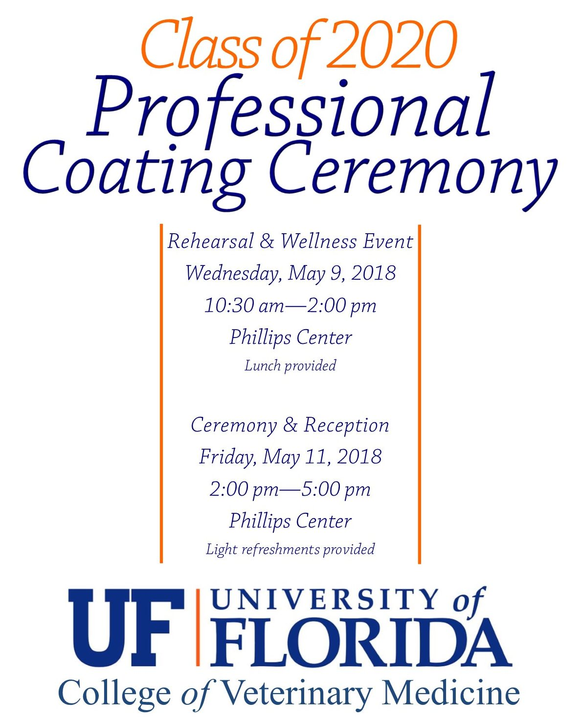 Coating Ceremony Information