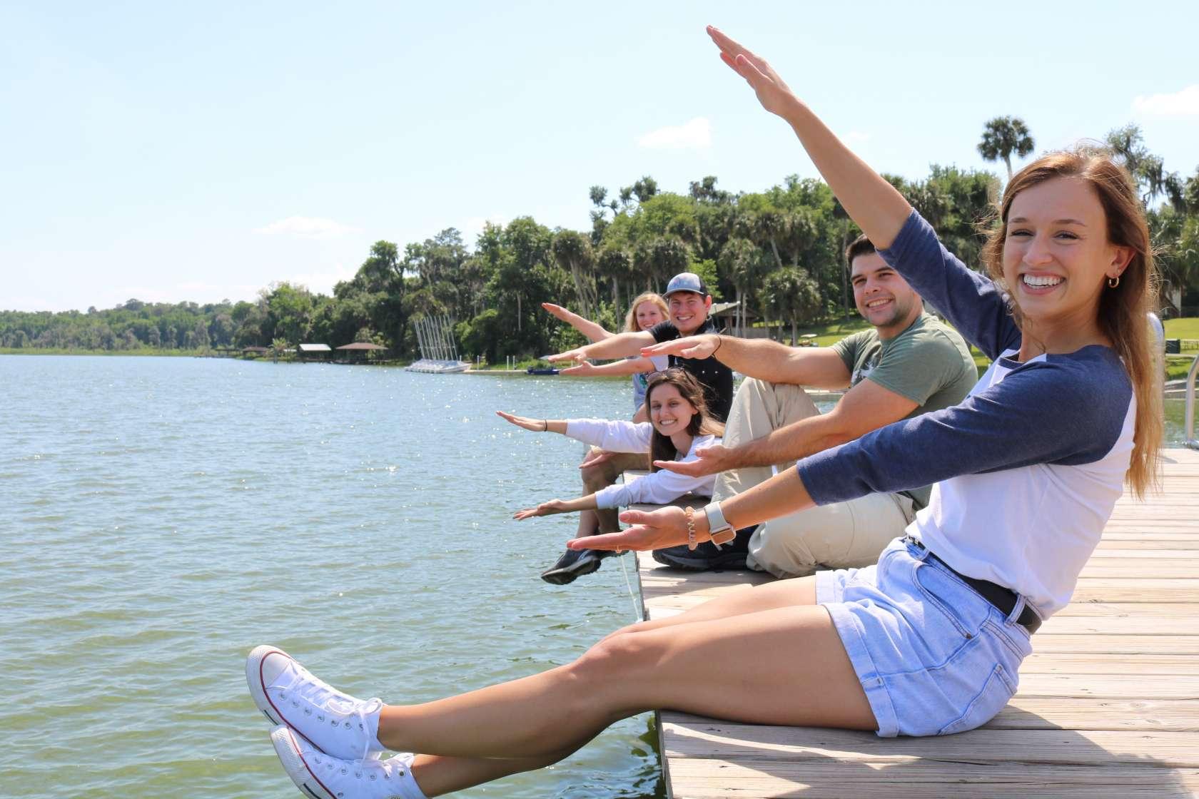Students at Lake Wauberg